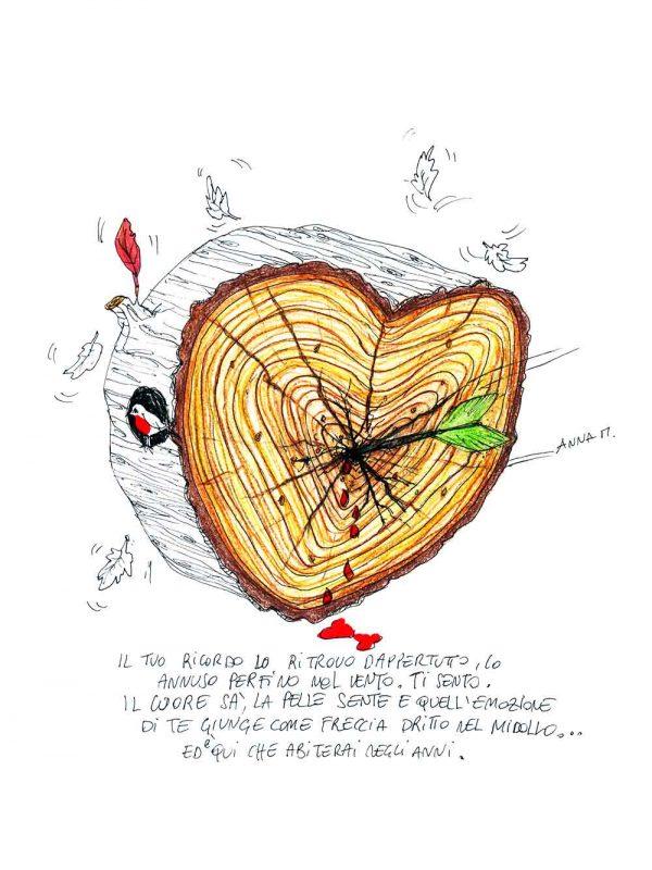 Cuore Freccia designed by Anna Molisani. T-shirt bio girocollo a maniche corte con cuciture laterali, pulite, minimal. Indossa TEENTO. Wear The Passion!