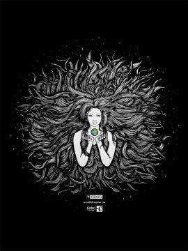Gaia designed by Riccardo Cristino Design. T-shirt bio girocollo a maniche corte con cuciture laterali, pulite, minimal. Indossa TEENTO. Wear The Passion!