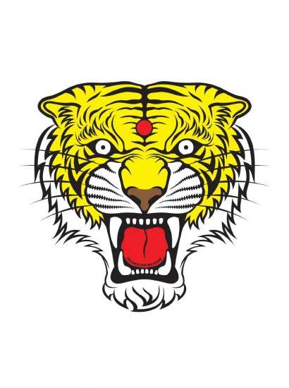 Tiger Pop designed by Riccardo Cristino Design. T-shirt bio girocollo a maniche corte con cuciture laterali, pulite, minimal. Indossa TEENTO. Wear The Passion!
